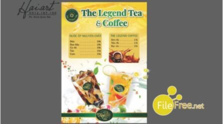 Tải file thiết kế menu coffee & tea free