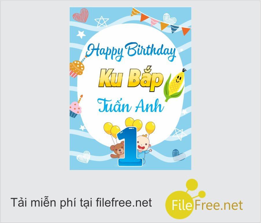 Fiel trang trí sinh nhật - bảng thông tin