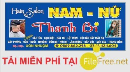 Bảng hiệu hair salon tóc nam nữ file corel miễn phí