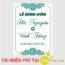 Bảng tên cô dâu chú rể trang trí tiệc cưới bảng đứng màu xanh