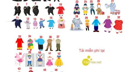 46+ CHIBI TRANG TRÍ SINH NHẬT FILE VECTOR COREL 12