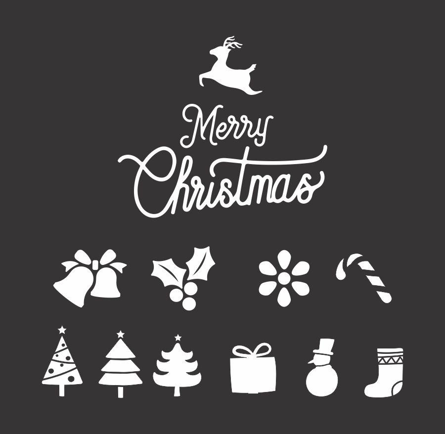 File cắt decal trang trí cửa kính mùa giáng sinh // ảnh 8