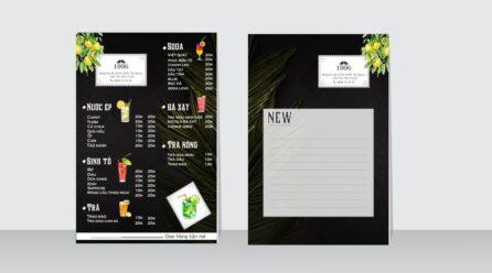 Chia sẻ file thiết kế menu tông màu đen