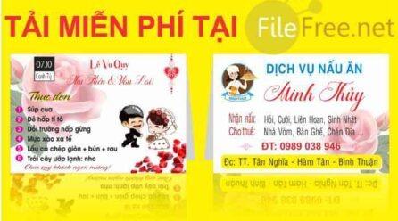 Thực đơn đám cưới file corel 12 free