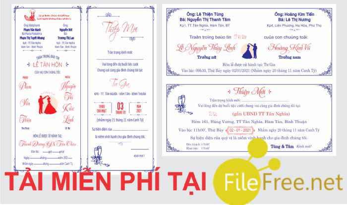 Tải mẫu thiệp cưới file corel miễn phí