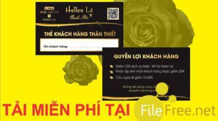 Card visit nail mi file corel tải miễn phí