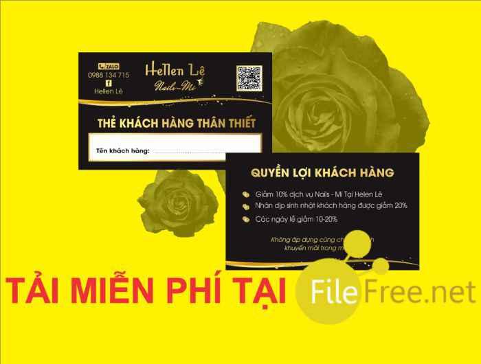 Card visit nail mi file corel miễn phí