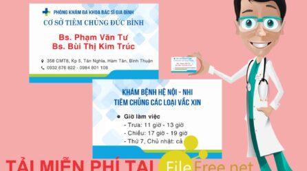 Card visit phòng khám bác sĩ file corel tải miễn phí