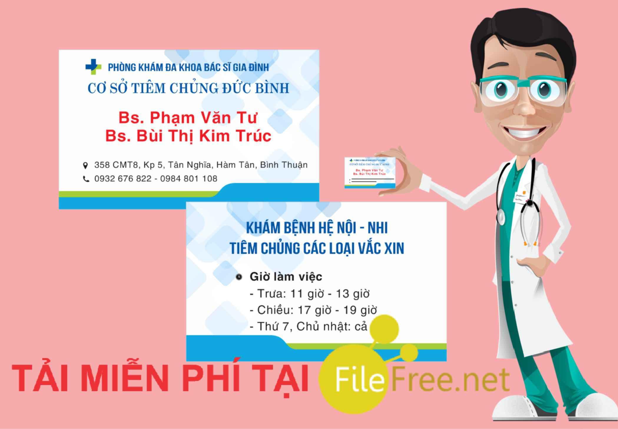 Card visit phòng khám bác sĩ