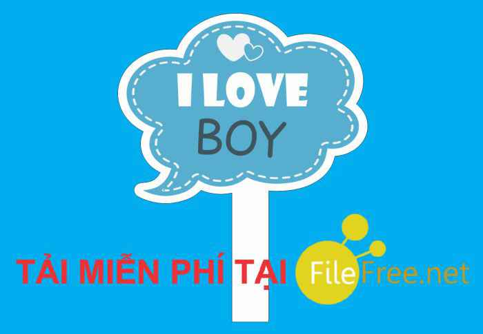 Hashtag I love Boy