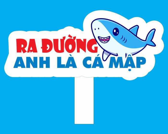 """Hashtag """"ra đường anh là cá mập"""""""
