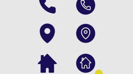 Icon địa chỉ – điện thoại dùng trong quảng cáo