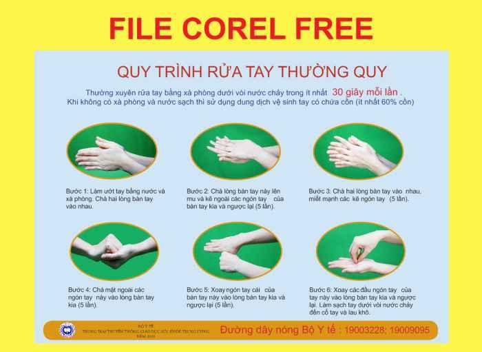 Quy trình rửa tay thường quy file corel x12 miễn phí