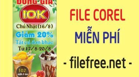 Standee giảm giá trà sữa file corel miễn phí
