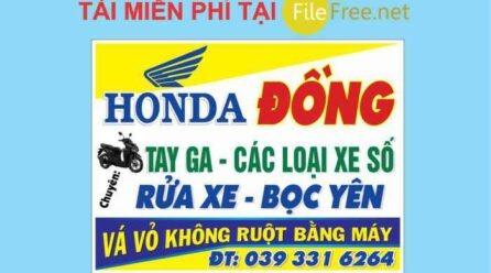 Bảng hiệu honda xe máy vector corel free