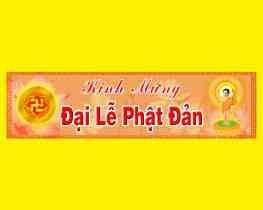 """Băn rôn """"đại lễ Phật Đản 2021"""""""