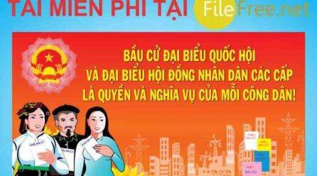 """""""Vector pano tuyên truyền bầu cử"""" file corel free"""