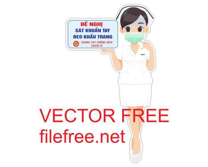 Y tá chống dịch vector