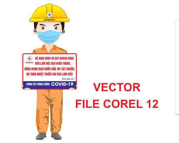 CHIBI ĐIỆN LỰC CHỐNG DỊCH VECTOR COREL 12