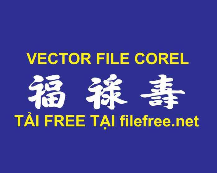 Vector chữ phúc lộc thọ free