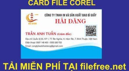 CARD VISIT BAO BÌ FILE COREL VECTOR FREE